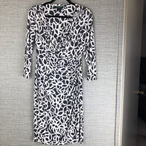 Lauren Ralph Lauren Printed Faux Wrap Dress Size 8